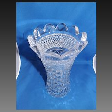 Heavy Cut Crystal Vase