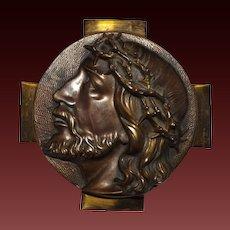 Cast Bronze Bust of Jesus