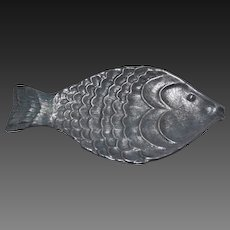 Vintage Ethan Allen Pewter Fish Tray