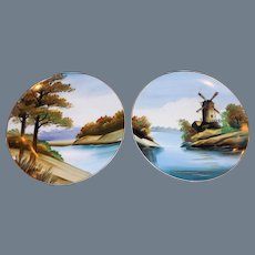 Nice set of hand painted Dutch cabinet plates