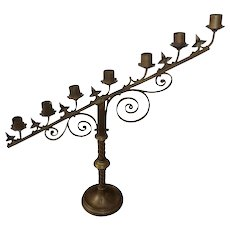 Antique Brass 7 Light Candelabra