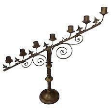 Antique Brass 7 Light Candelabra
