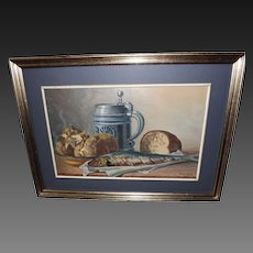 Vintage Harry Iredale Oil on Board Still Life