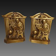 Vintage PM Craftsman Monk Bookends