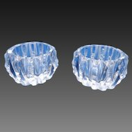 Set of 2 Cut Crystal Open Salt Cellars