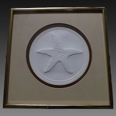 Framed Starfish Pressed Paper, pencil signed and numbered