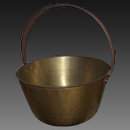 Antique Brass Fireplace Pot