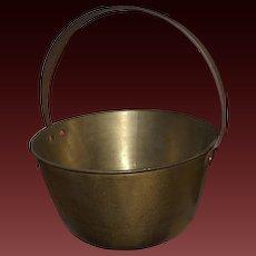 Antique Brass Fireplace Pot