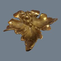 Antique Brass Nut Dish