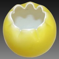 Mount Washington Cased Milk Glass Yellow Vase