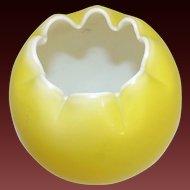 Mount Washington Cased Milk Glass Yellow Vase