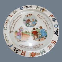 "Vintage German ""Nursery Rhyme"" Childrens Porcelain Bowl"