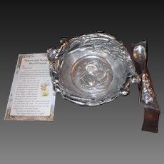 Arthur Court Pewter Tipper & Snaggles Baby Bowl & Spoon