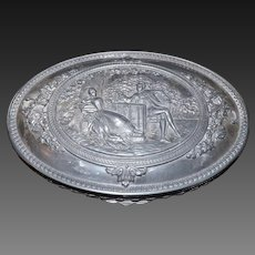 Jennings Brothers Pewter Trinket Jewelry Box 1915
