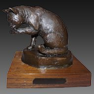 Jim Reno Bronze Sculpture of a Cat  19/200