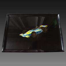 Rare Couroc Serving Tray with 1976 McLaren #68 Norton Spirit- Tom Sneva- Indy 500