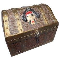 Vintage E.J. Kahn Metal Treasure Chest Kids Piggy Bank