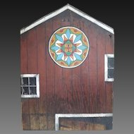 Folk Art Artist Signed Barn Board Painting