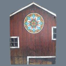 Folk Art Artist Signed Barn Board Painting