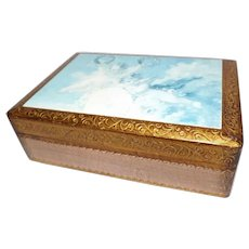 Vintage Florentine Wood Box with Cherubs