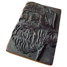 Vintage Christmas Santa Claus Ink Stamp