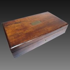 Antique French 1800's Rosewood Vanity / Writing or Cigarette Box