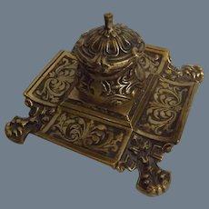 Cast Brass Baroque Inkwell