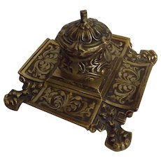 Cast Brass Baroque Inkwell