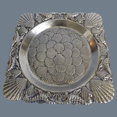 Arthur Court Pewter Tray - Seahorses and Shells