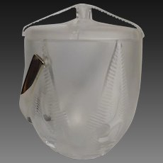 Lalique  Rhodes Crystal Ice Bucket