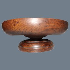 Antique Wood Church Collection Bowl