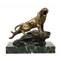 Thomas Francois Cartier bronze sculpture Le Fauve