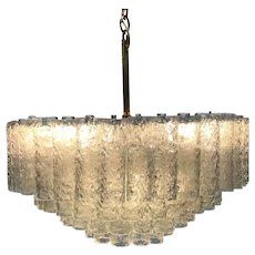Large Italian Murano Art Glass Venini 1960 Chandelier