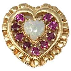 House of Igor Carl Faberge 14k Heart Pendant