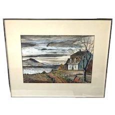 Canadian Marcel Fecteau Pastel Painting