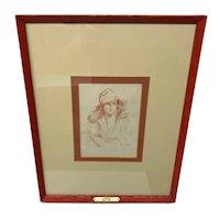 Canadian Adrien Hebert Portrait d'Homme Sketch