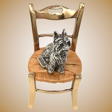 925 Silver Italy Yorkshire on a Chair