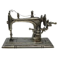 925 Silver Italy Sewing Machine Doll House Miniature