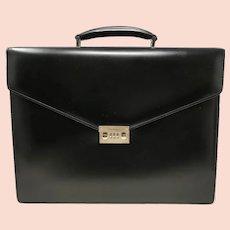 Salvatore Ferragamo Black Calf Leather Briefcase