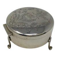 Birks 925 Silver Footed Round Box