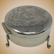 Birks 925 Silver Footed Round Box