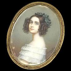 Princess Alexandra V Bayern Miniature Portrait