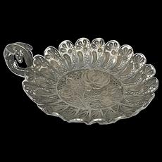 Austria Silver Filigree Footed Bowl