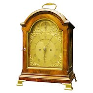 George the third mahogany bracket clock by James Wild London
