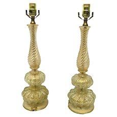 Barovier & Toso Murano Italy Table Lamps