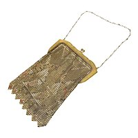 Whiting & Davis Mesh Copper Enamel Bag