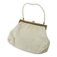 Vintage Whiting & Davis Ivory Color Mesh Bag