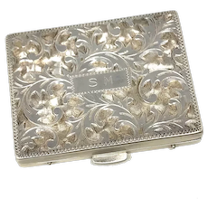 Sterling Silver SM Engraved Pillbox