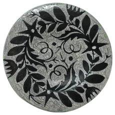 Gorka Livia Black Flower Design Wall Plate