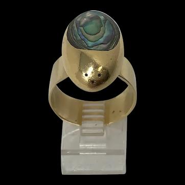 Walter Schluep 18k Ladybug Abalone Heirloom Ring